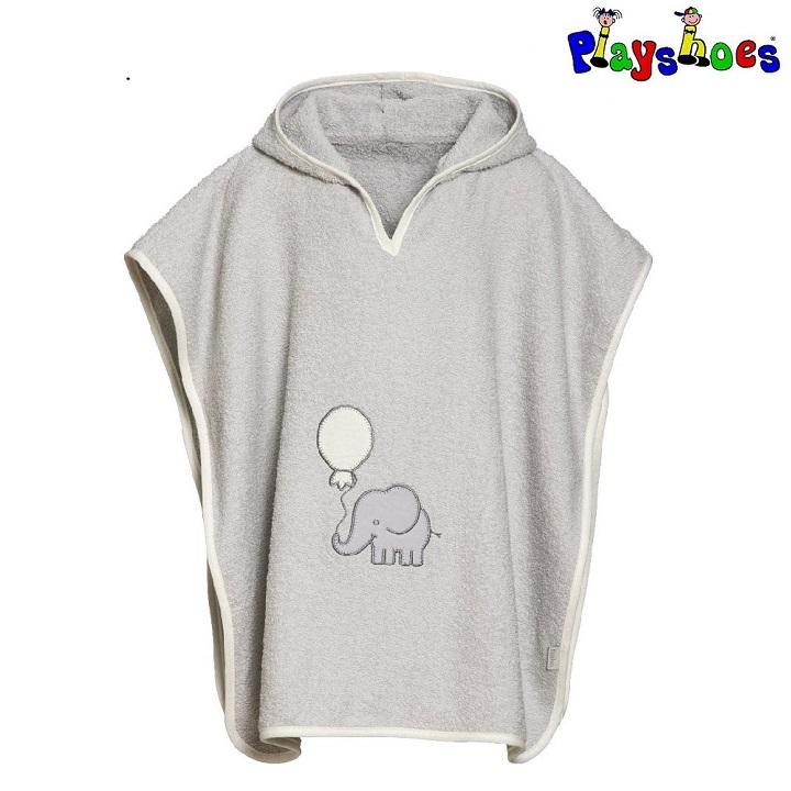 Lasten huppupyyhe Playshoes Elefantti harmaa