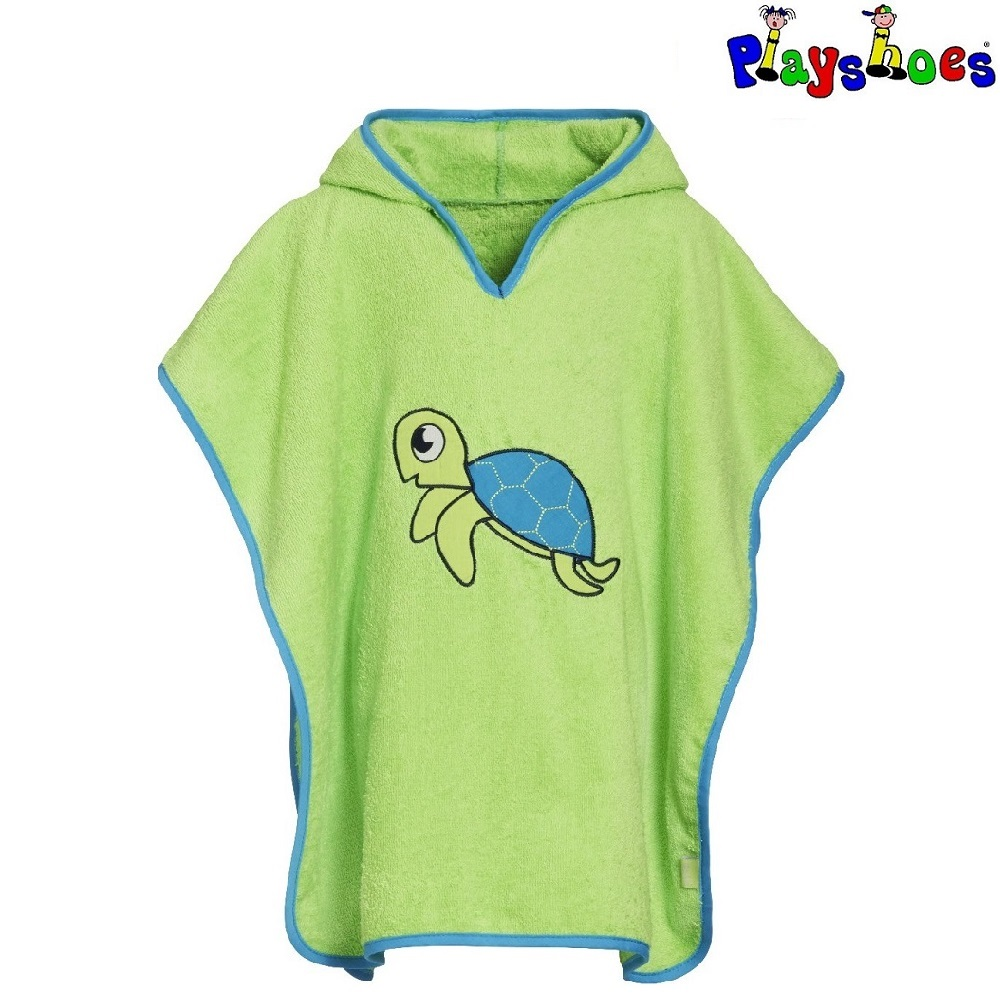 Lasten huppupyyhe Playshoes Turtle vihrea