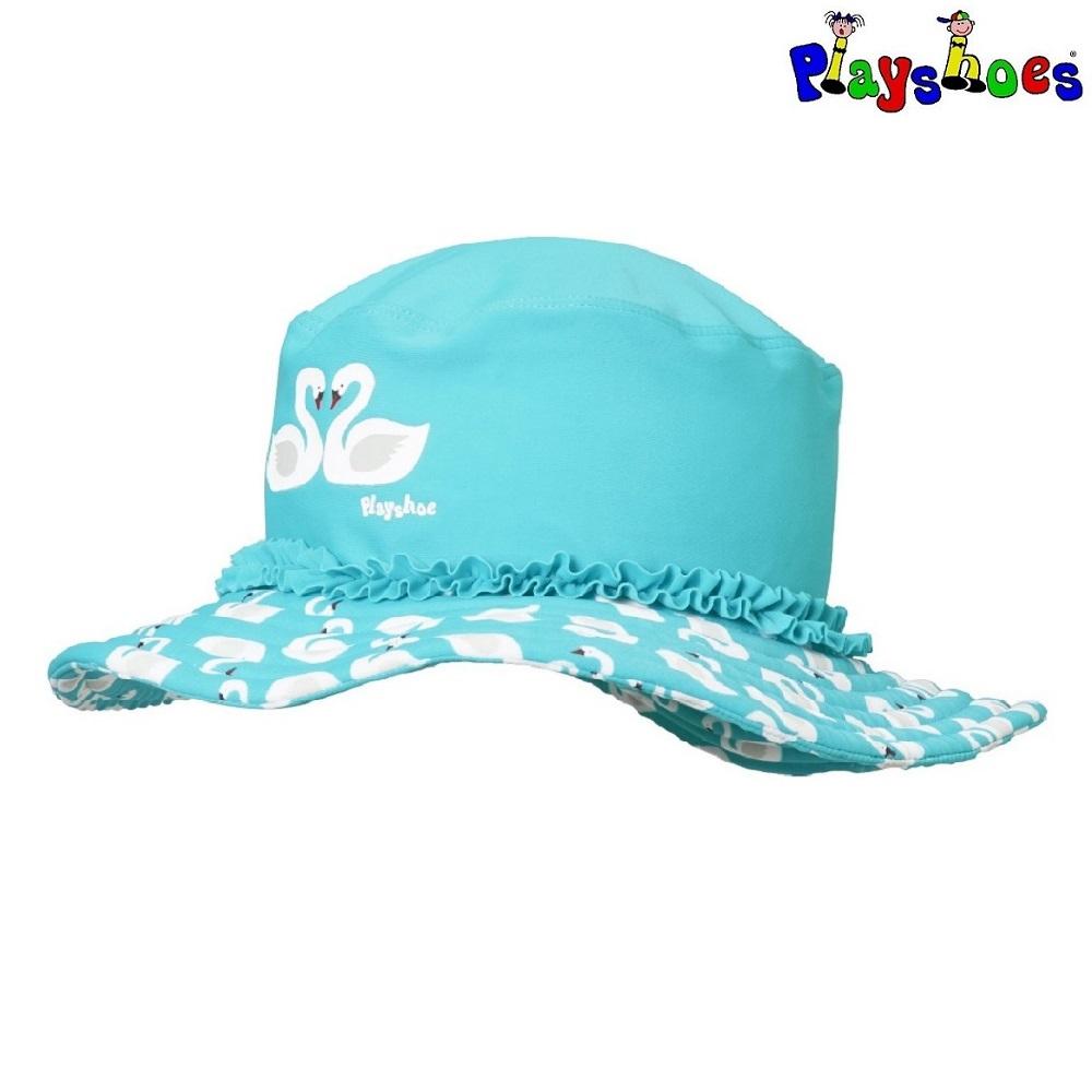 Lasten Uv aurinkohattu Playshoes Swan sininen