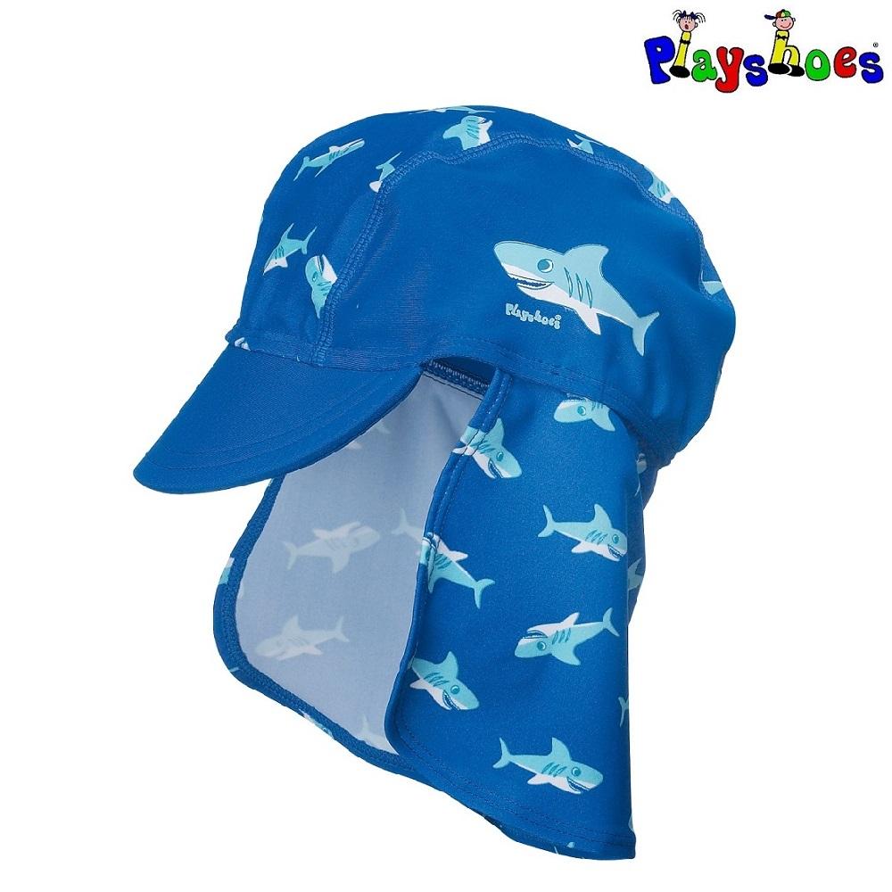 Lasten Uv aurinkohattu Playshoes Hai sininen