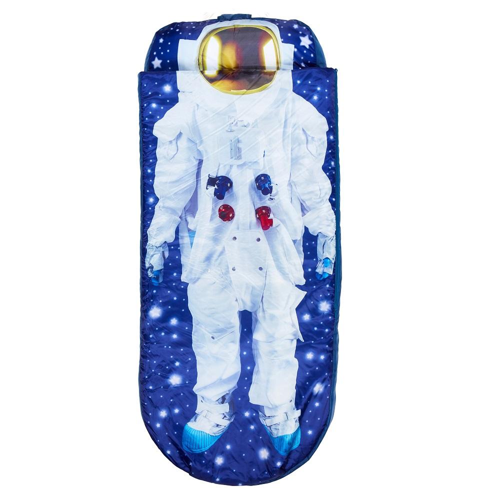 Resemadrass med lakan och kudde Readybed Junior Astronaut