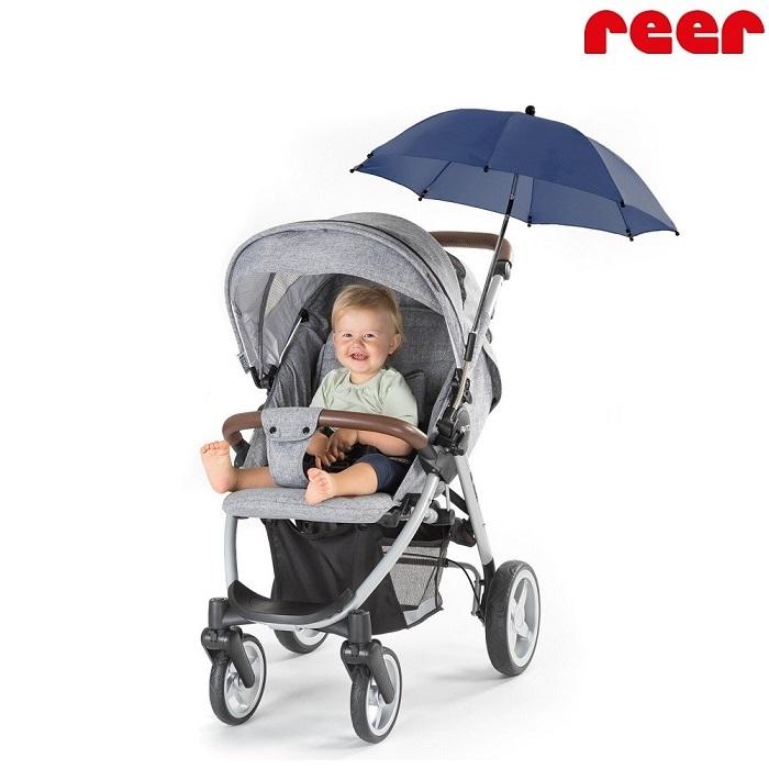 Aurinkovarjo vaunuun ja rattaaseen Reer sininen