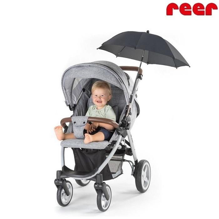 Aurinkovarjo vaunuun ja rattaaseen Reer musta