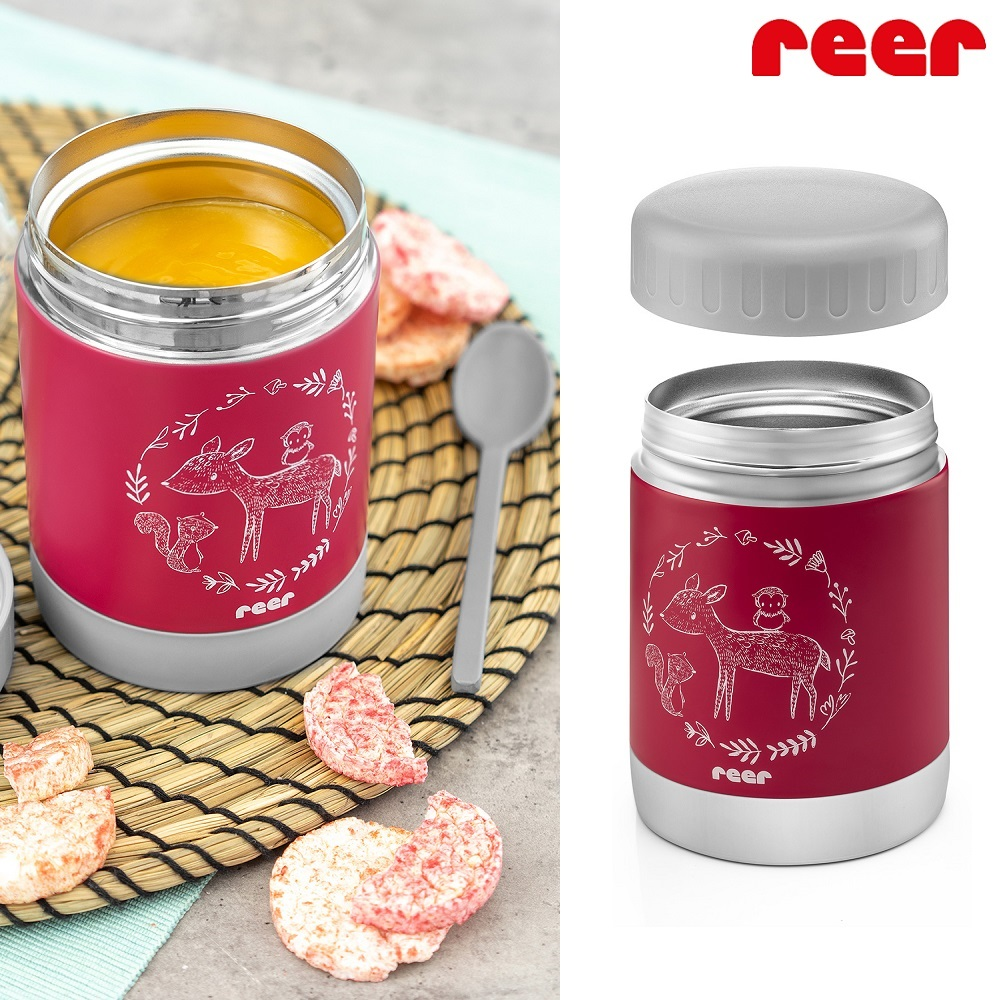Lasten ruokatermos Reer Colourdesign vaaleanpunainen