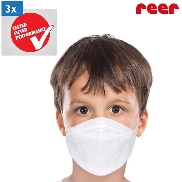 Lasten kasvomaski Reer 3 kpl valkoinen