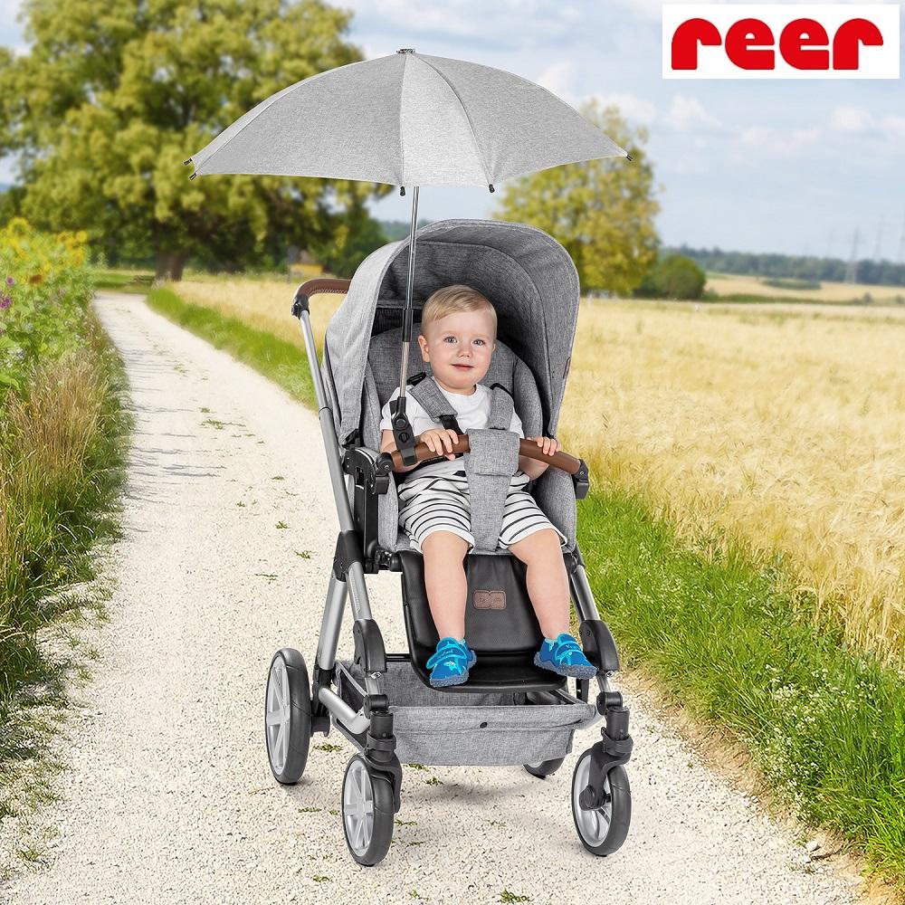Reer aurinkovarjo vaunuihin ja rattaisiin  harmaa melange
