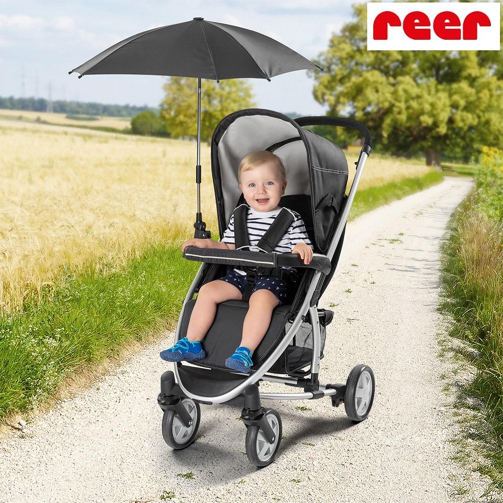 Aurinkovarjo vaunuihin ja rattaisiin Reer musta