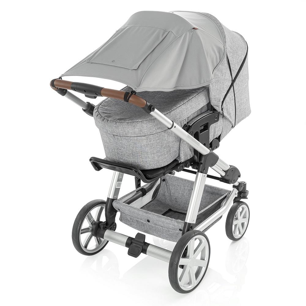 Aurinkosuoja vaunuun ja rattaisiin Reer Shinesafe Premium harmaa
