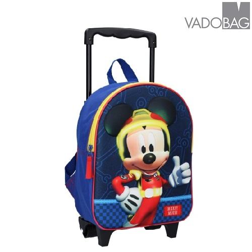 Lasten reppu ja vetolaukku  3D Mikkihiiri sininen