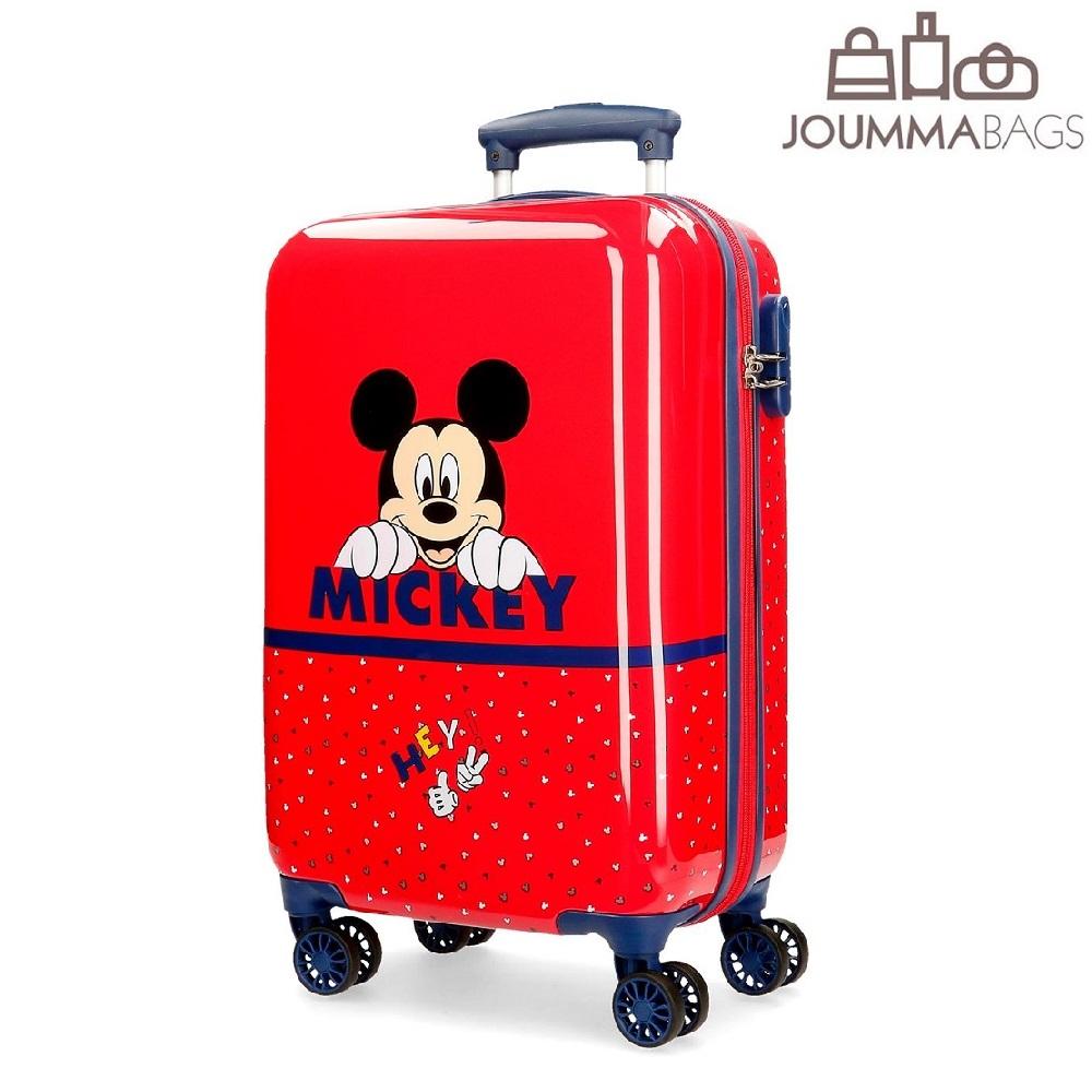 Lasten ABS matkalaukku Mikkihiiri punainen