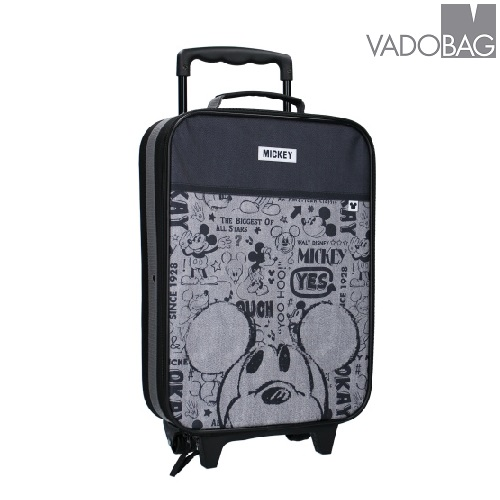 Pieni lasten matkalaukku Mikkihiiri harmaa