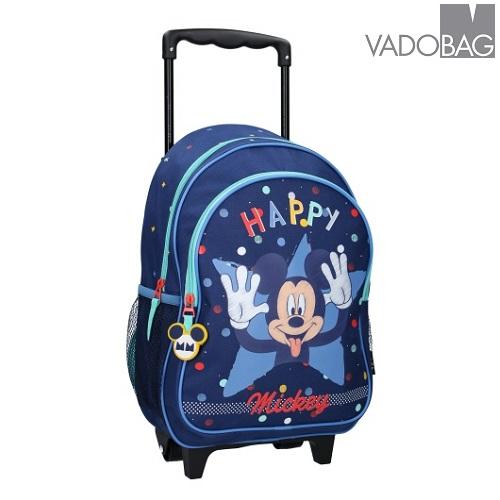 Lasten matkalaukku ja reppu pieni Mikkihiiri sininen