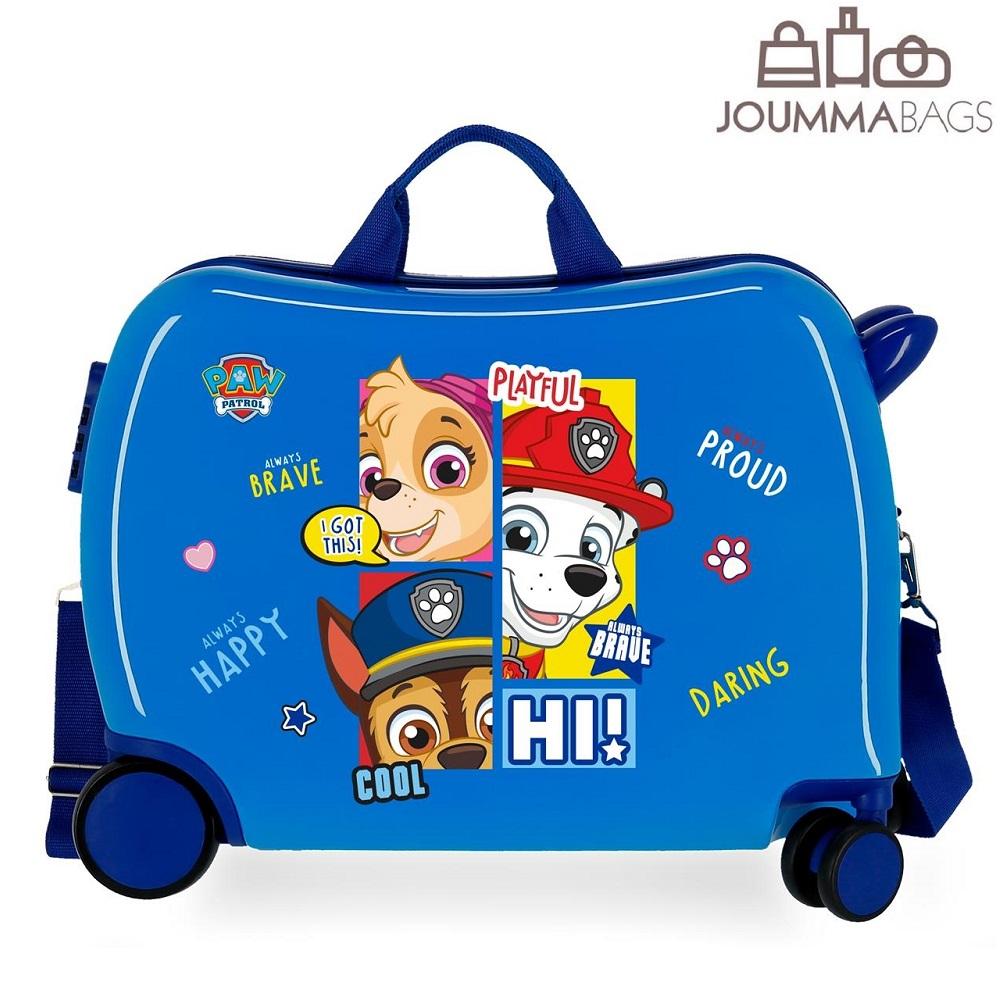 Lasten ABS matkalaukku paallaistuttava Ryhma Hau sininen