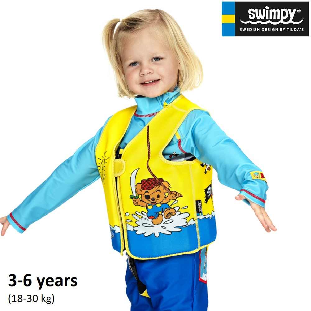 Simväst för barn Swimpy Bamse