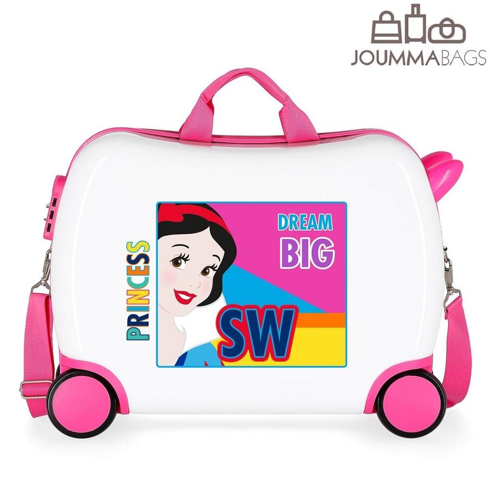 Lasten lentolaukku paallaistuttava Disney Princesses valkoinen vaaleanpunainen