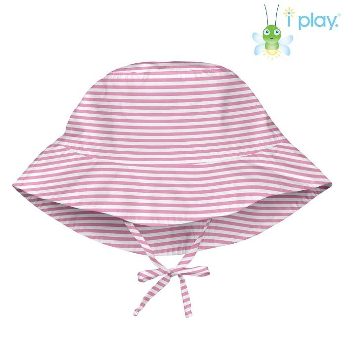 Lasten aurinkohattu Iplay Pink stripe vaaleanpunainen raitallinen