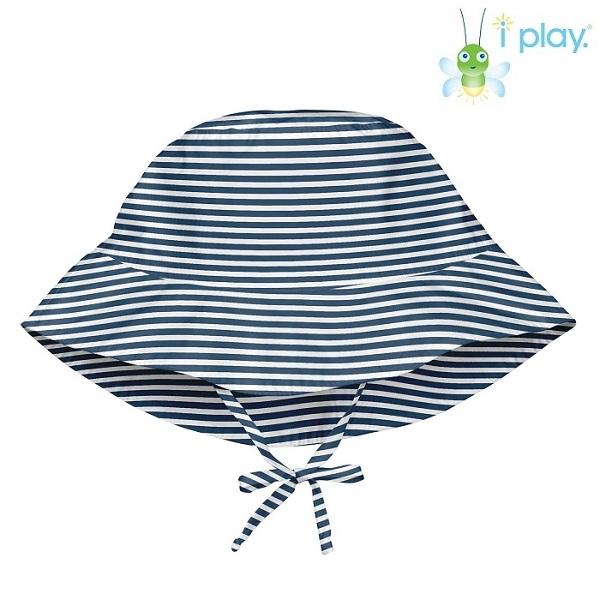 Lasten aurinkohattu Iplay Navy stripe sininen raitallinen