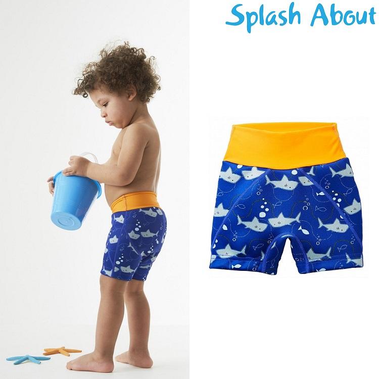 Lasten uimavaippa uimahousut Splash Jammers sininen hai