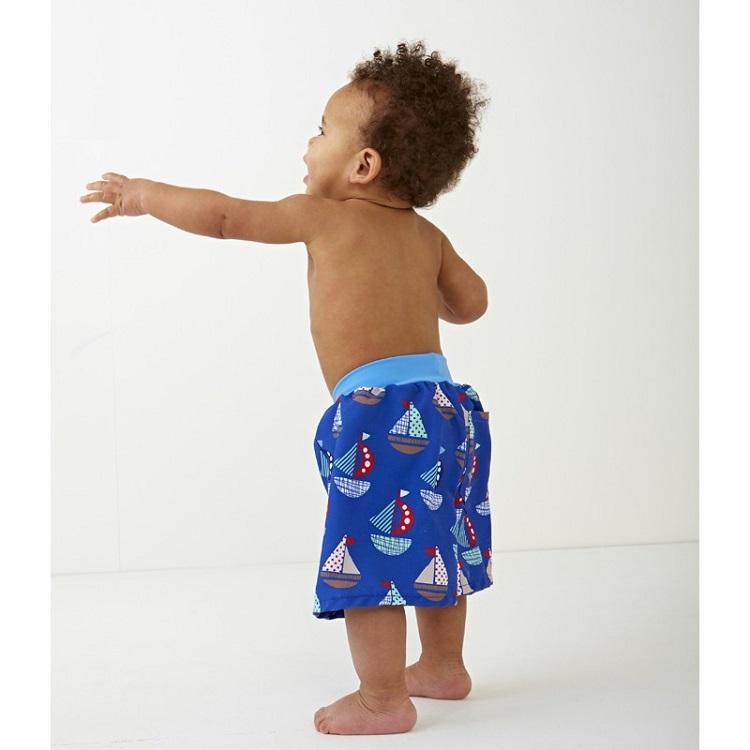 Lasten kesa-shortsit uimavaipallla Splashabout sininen setsail