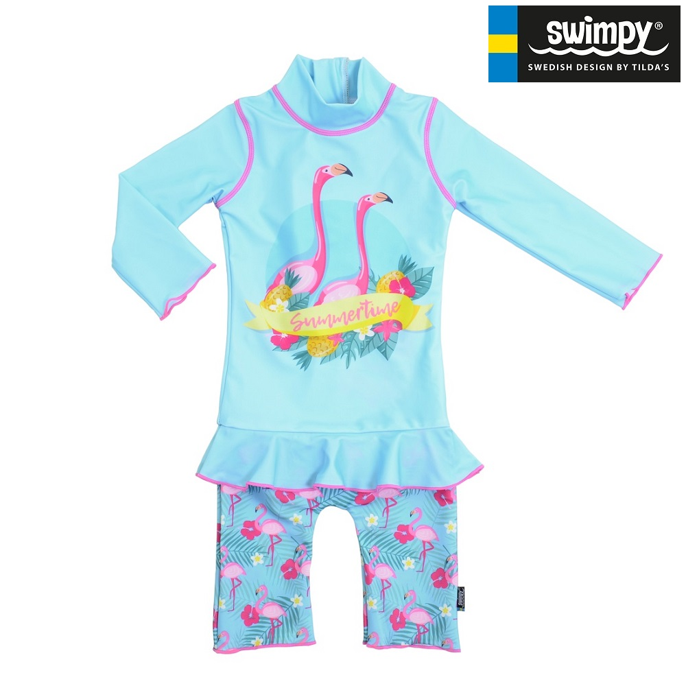 Lasten UV-uimapuku Swimpy Flamingo