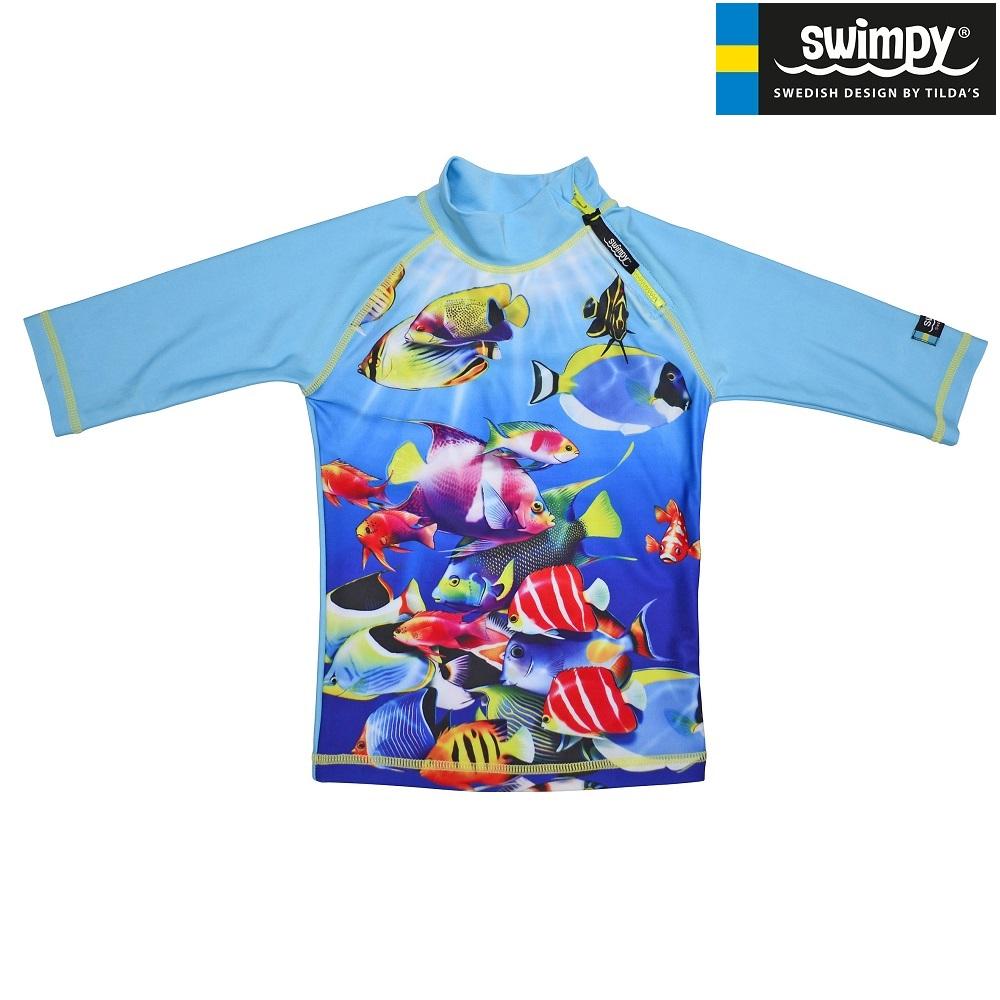 UV-tröja Swimpy Fiskar blå