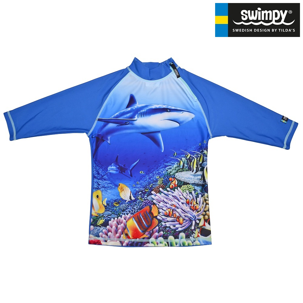 UV-tröja Swimpy Haj blå