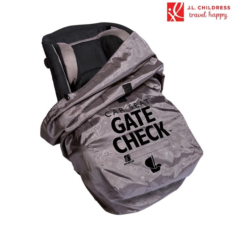 Kuljetuslaukku turvakaukalolle Gate Check Deluxe harmaa