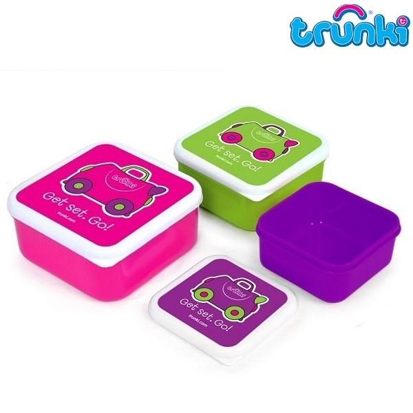 Snacksburk barn Trunki Trixie Snack Pots Set med 3 burkar