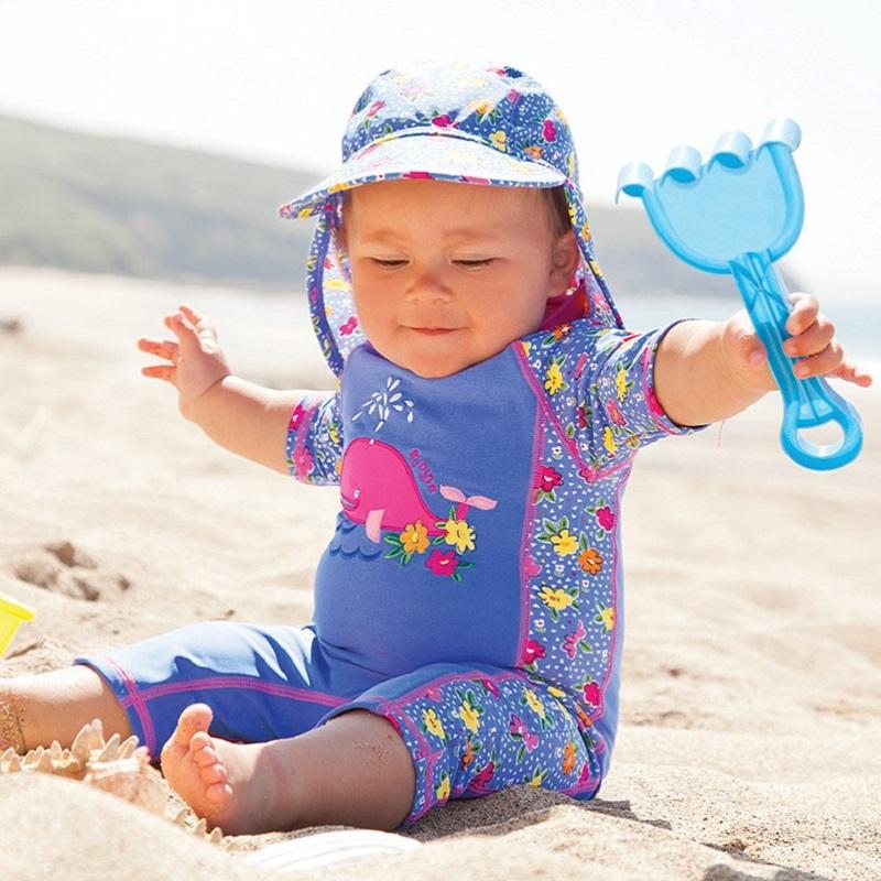 Lasten Uv uimapuku Jojo Maman Bebe Valas vaaleansininen