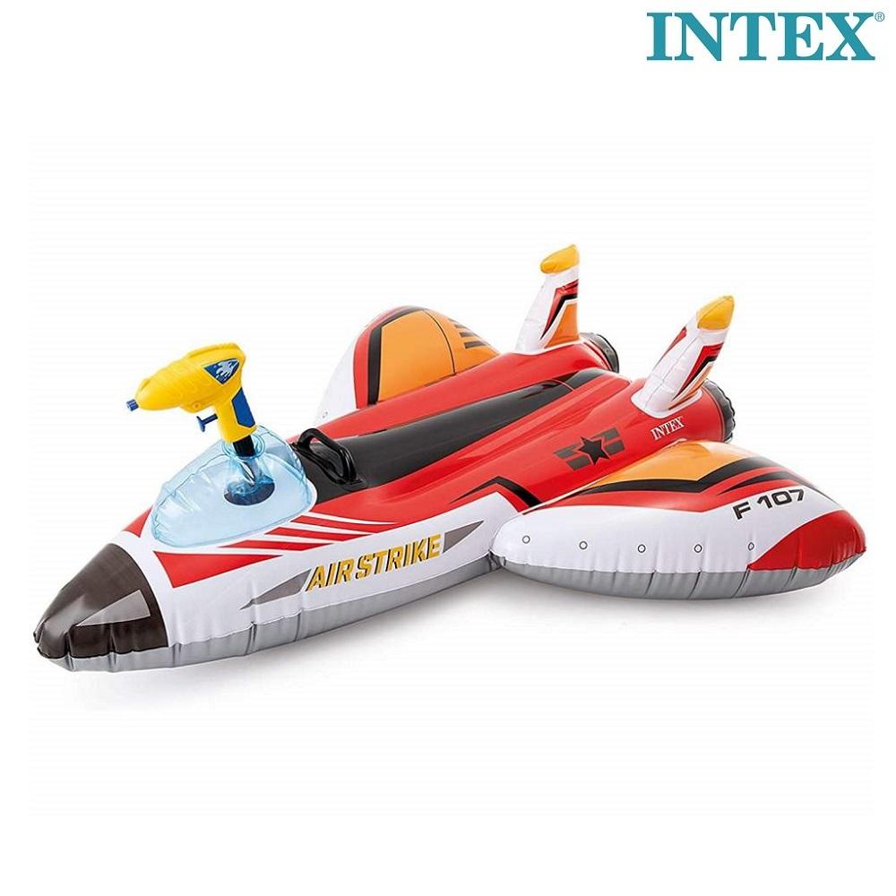 Uimaptaja lentokone vesisuihkulla Intex punainen