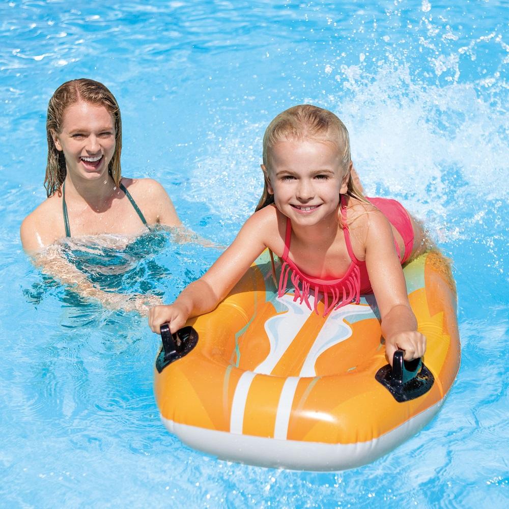 Lasten uimapatja Intex Joy Rider Orange