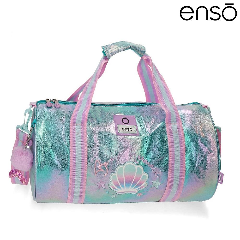 Enso barnväska Be Mermaid resebag och sportväska för barn rosa