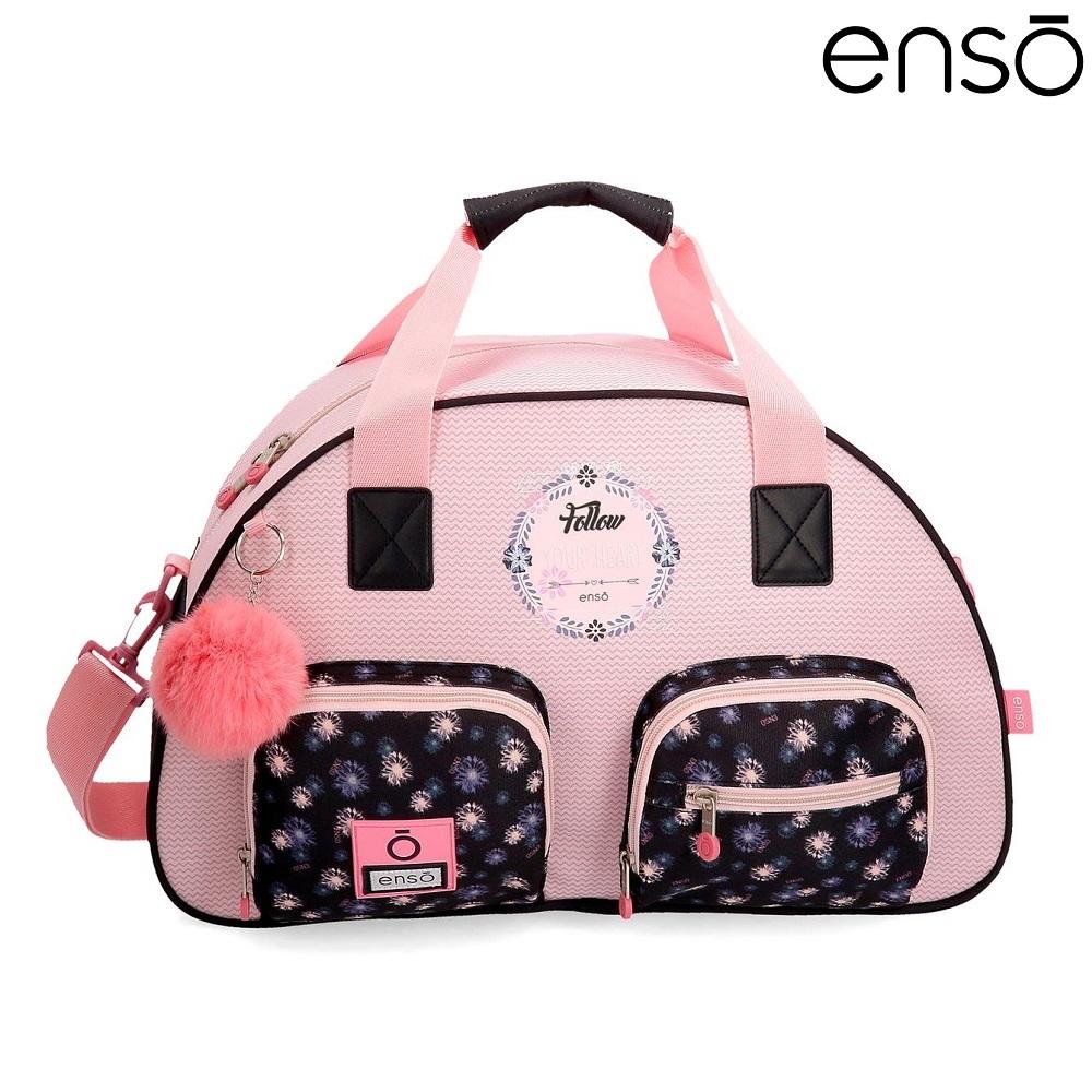Enso barnväska Daisy resebag och sportväska för barn rosa