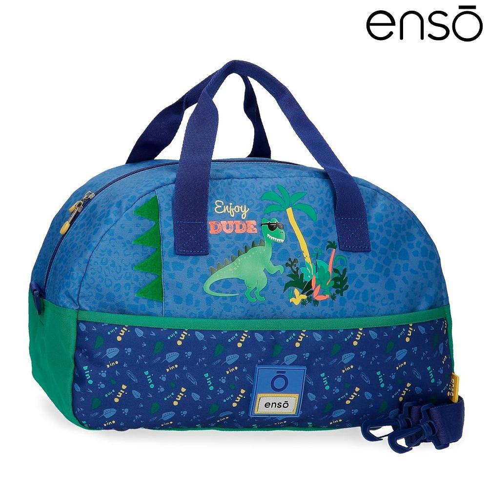 Enso barnväska Dino resebag och sportväska för barn blå