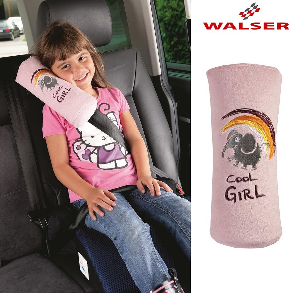 Lasten niskatyyny auton turvavyohon Cool girl vaaleanpunainen