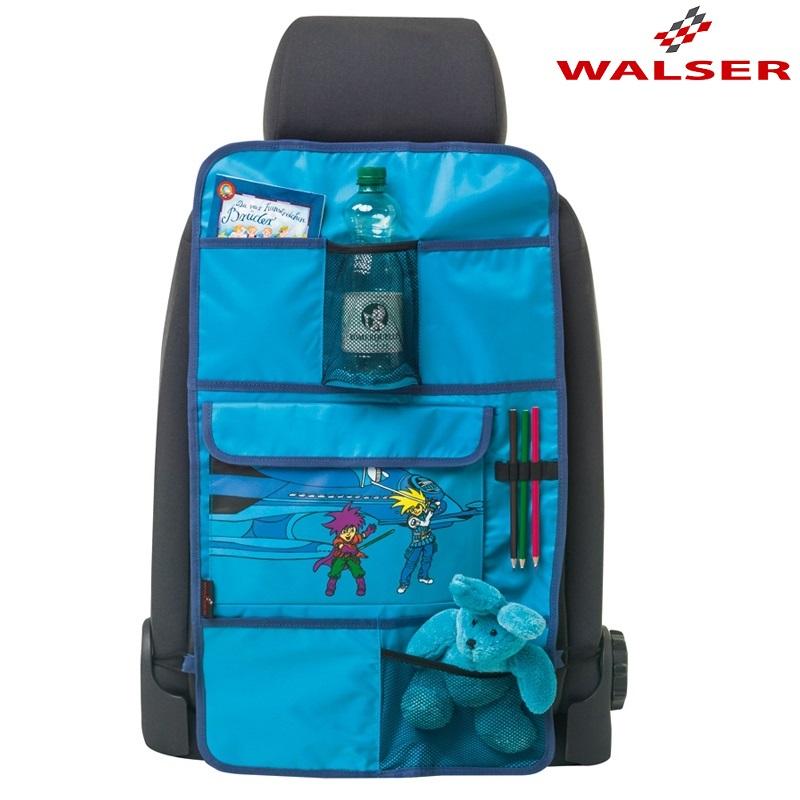 Potkusuoja ja jarjestelija autoon Walser Space Explorer sininenSunny punainen