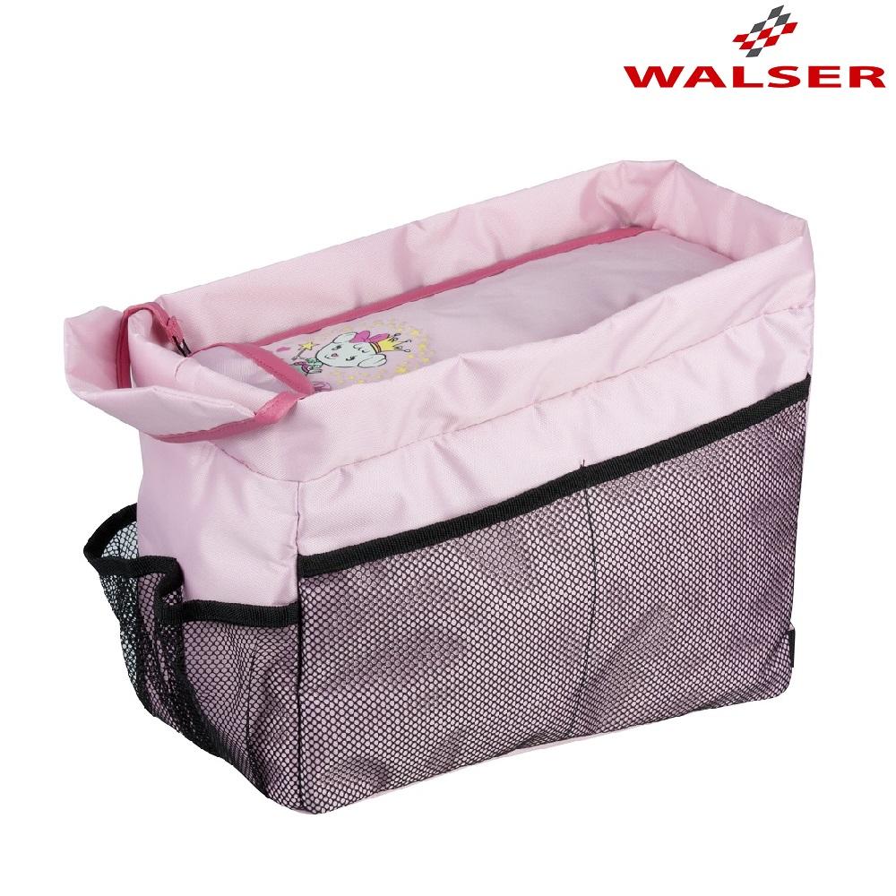 Takapenkin jarjestelija autoon Walser Travel organizer vaaleanpunainen