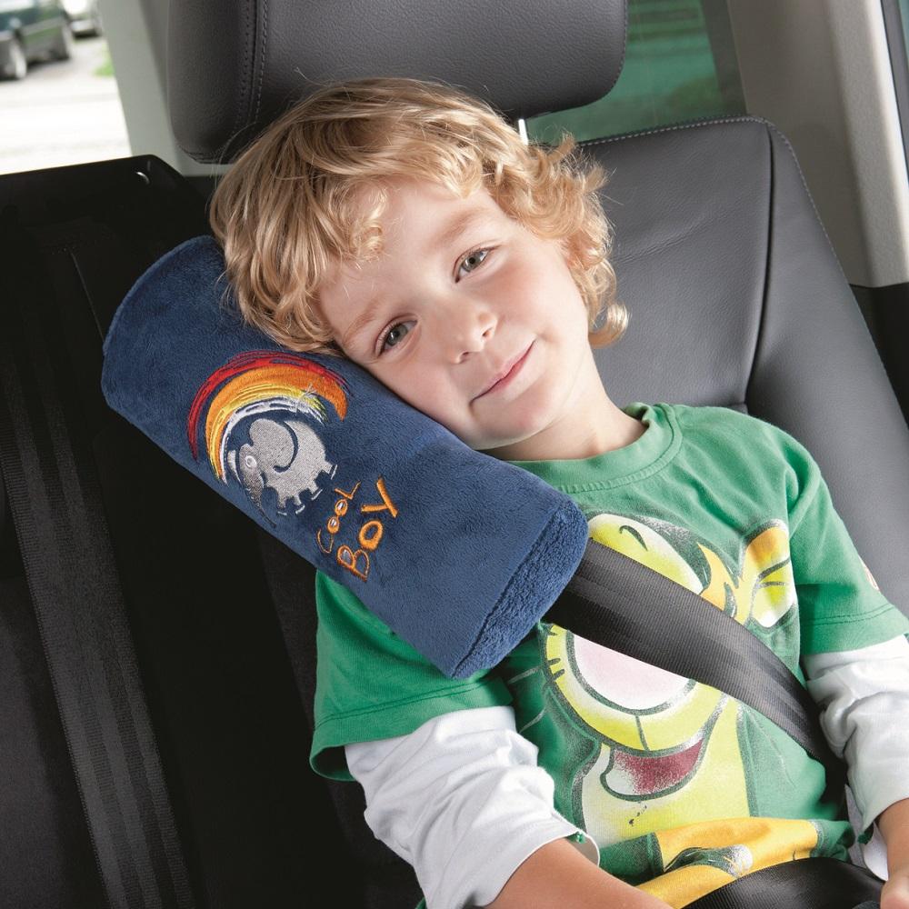 Lasten niskatyyny auton turvavyohon Cool boy sininen