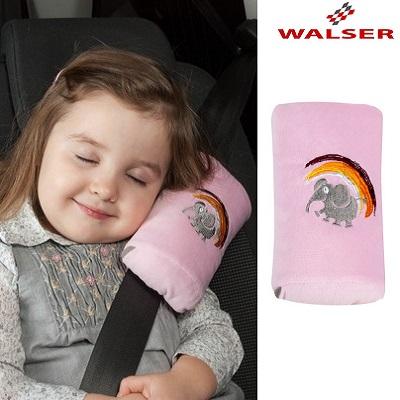 Lasten niskatyyny turvavyöhön Walser Mini Cool Girl vaaleanpunainen