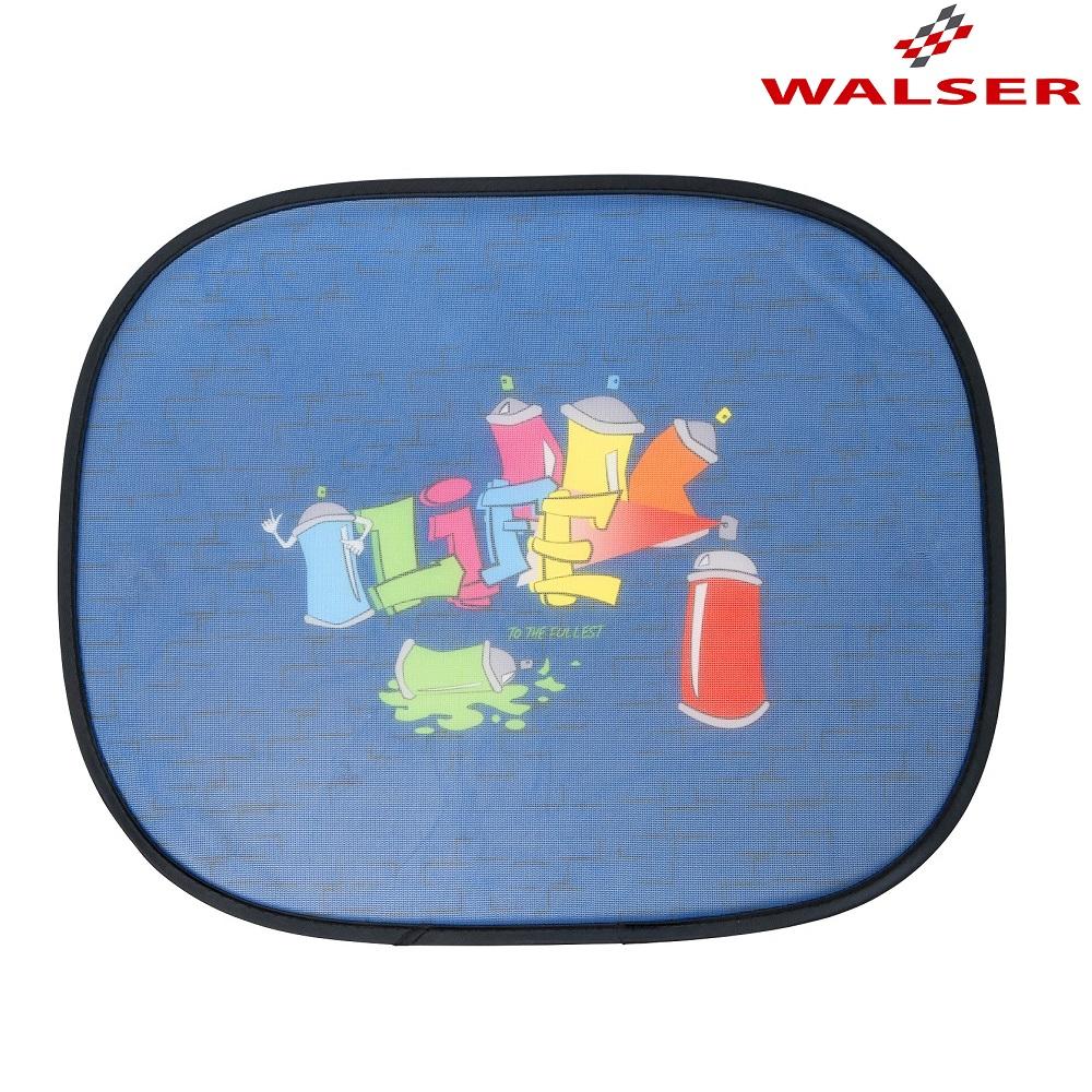 Aurinkosuoja autoon Walser Graffiti sininen