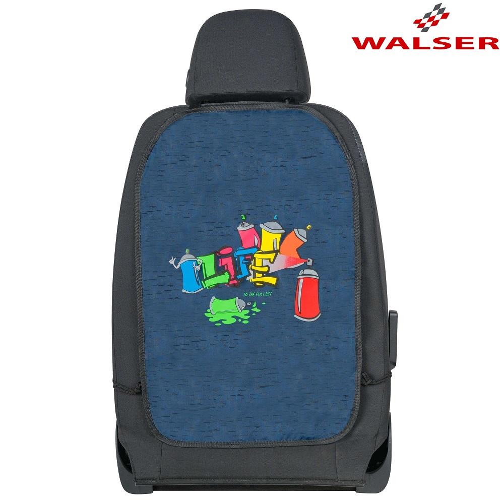 Potkusuoja taskuilla Walser Graffiti sininen punainen