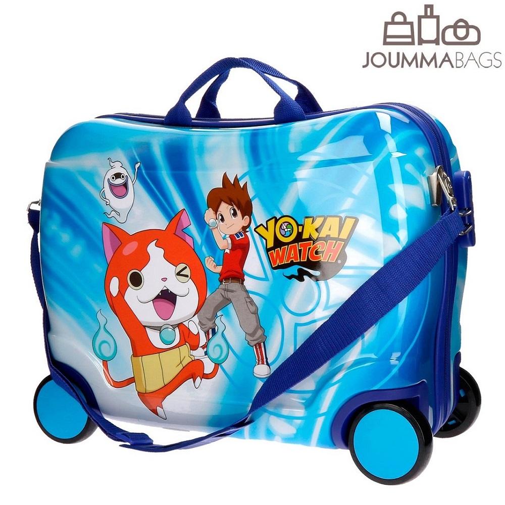 Lasten ABS matkalaukku paallaistuttava Yokai Watch sininen